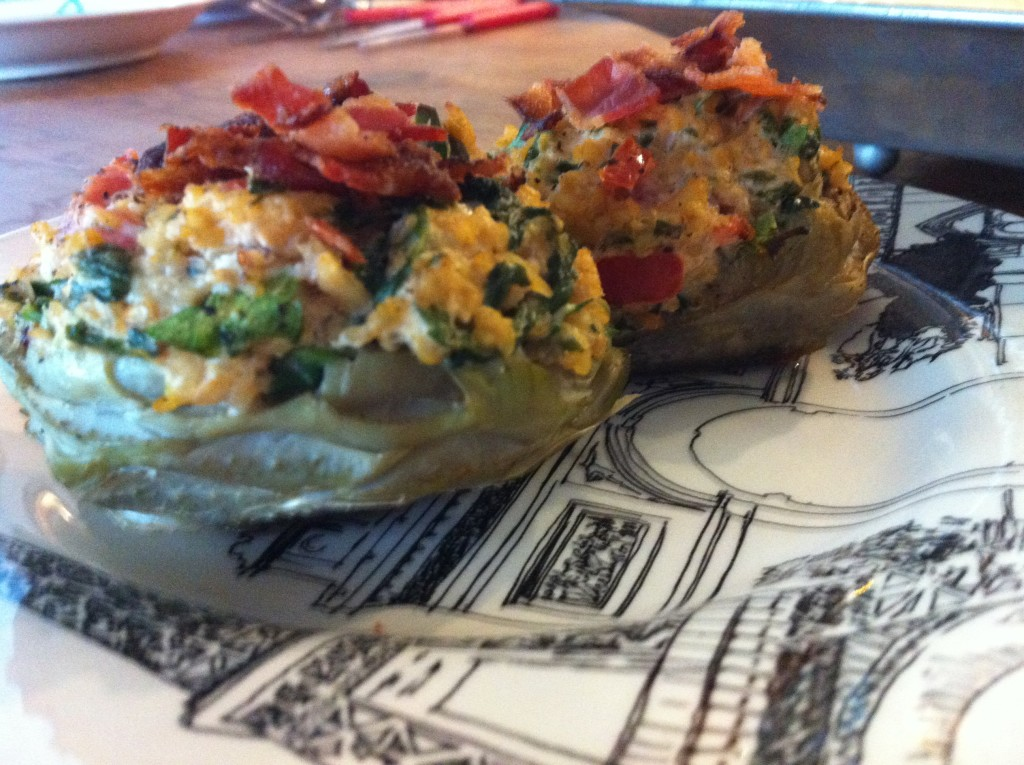 cucinadimammina_stuffed artichoke bottoms_04